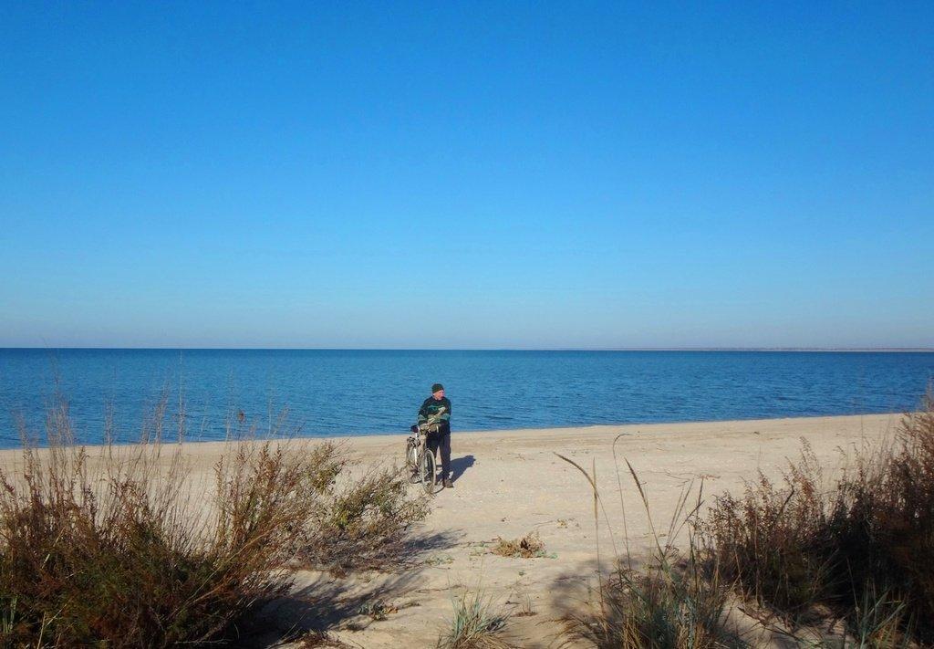 Азовский берег, поход с велосипедом, Кубань, 8 ноября, год 2018 ... 016