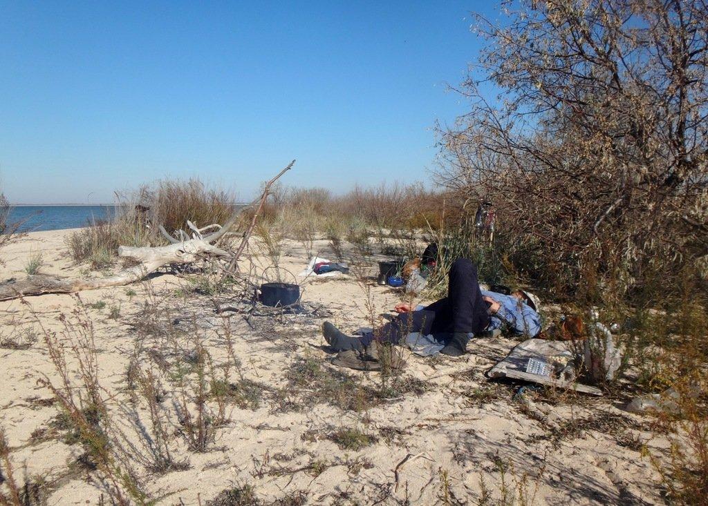 На Природе, Азовское побережье, поход велосипедный, 8 ноября 2018, Краснодарский край... 009