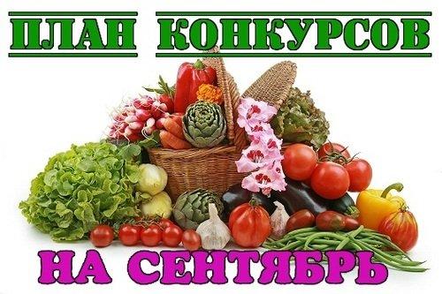 ПЛАН КОНКУРСОВ на СЕНТЯБРЬ 2019 ода