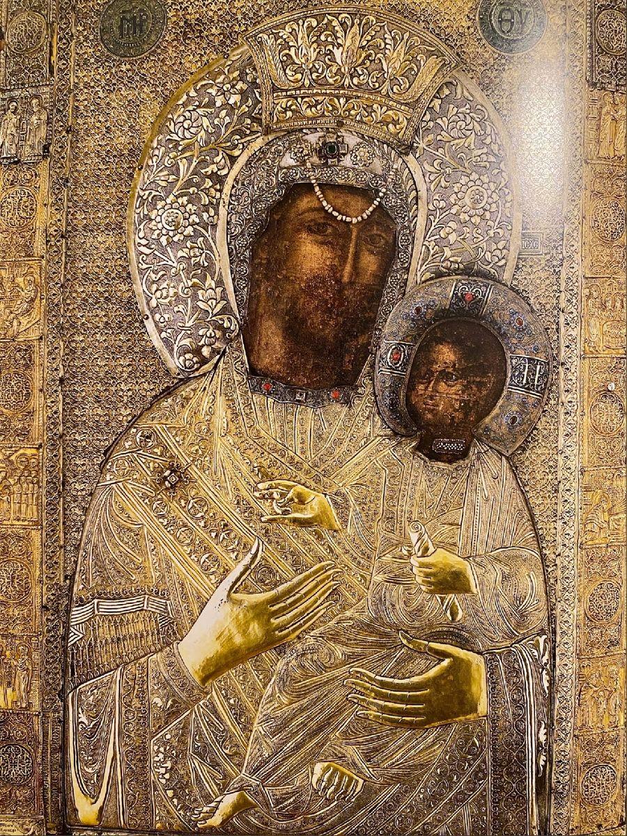 Чудотворная Ктиторская икона Божией Матери. Монастырь Ватопед на Афоне.