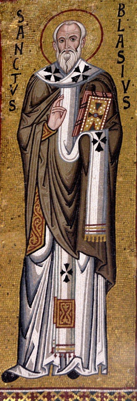 Священномученик Власий, Епископ Севастийский. Византийская мозаика в Палатинской капелле, Палермо. XII век.