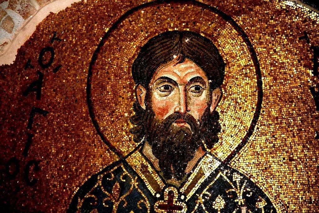 Святой Мученик Акиндин Персидский. Мозаика монастыря Дафни близ Афин, Греция. XI век.