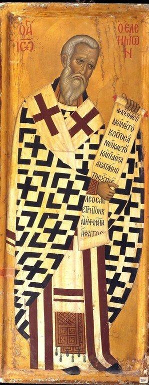 Святитель Иоанн Милостивый, Патриарх Александрийский. Византийская икона в монастыре Святой Екатерины на Синае.
