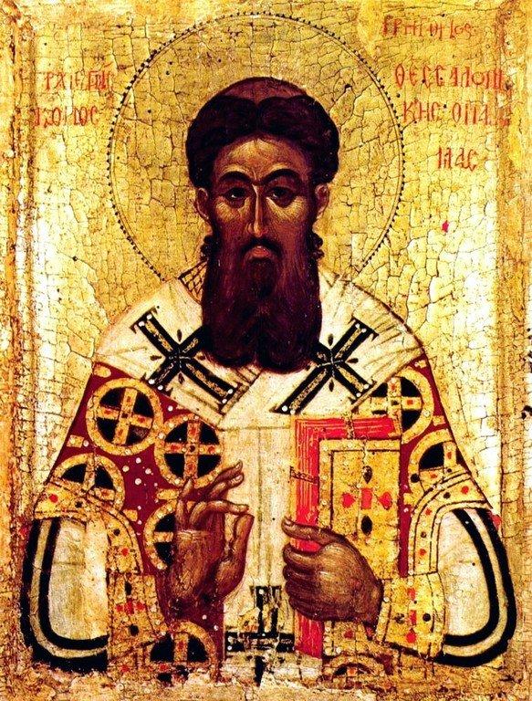 Святитель Григорий Палама, Архиепископ Солунский. Икона. Византия, 1370 - 1380-е годы. ГМИИ.