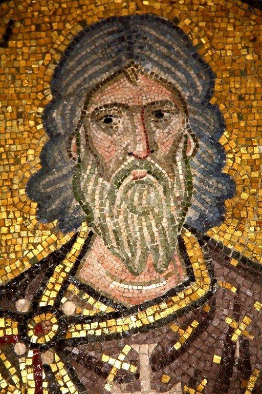Святой Мученик Гурий Едесский. Мозаика монастыря Дафни близ Афин, Греция. XI век.