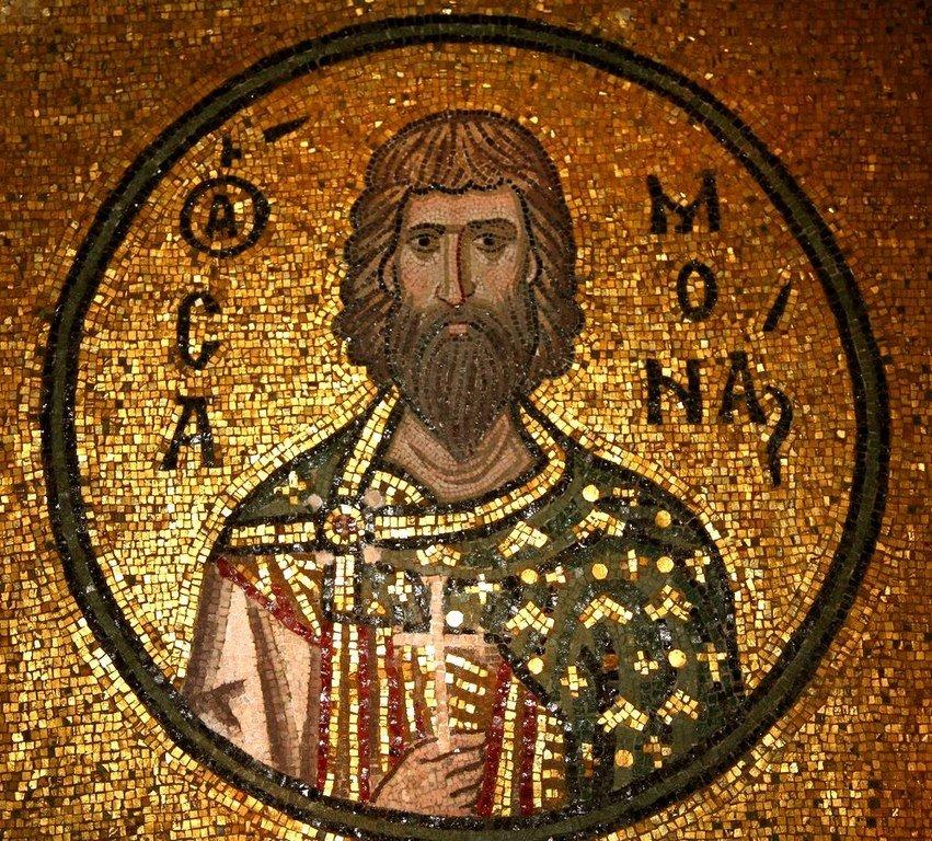 Святой Мученик Самон Едесский. Мозаика монастыря Дафни близ Афин, Греция. XI век.