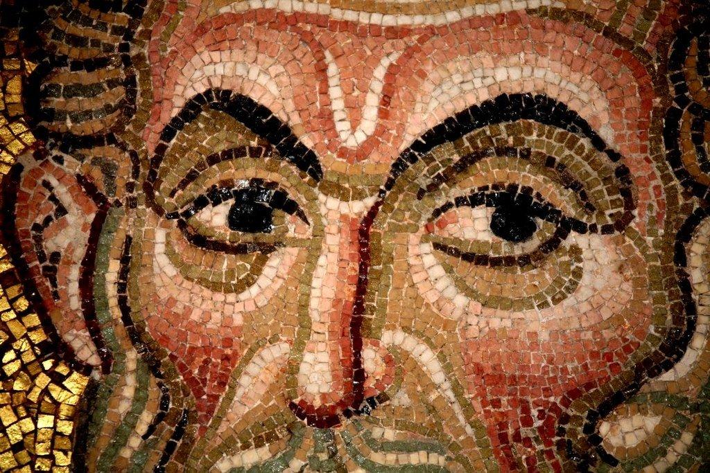 Святитель Григорий Чудотворец, Епископ Неокесарийский. Мозаика монастыря Дафни близ Афин, Греция. XI век. Фрагмент.