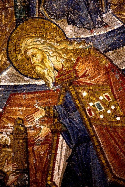 Введение во храм Пресвятой Богородицы. Мозаика монастыря Хора в Константинополе. 1315 - 1321 годы. Фрагмент.