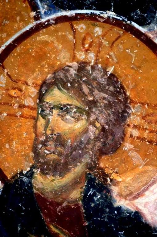 Лик Спасителя. Фрагмент фрески собора Святой Софии в Трапезунде. XIII век.
