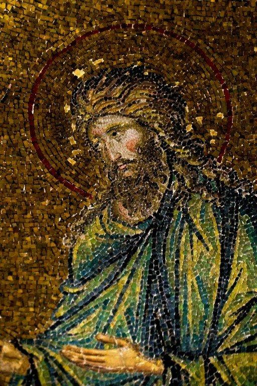 Святой Иоанн Предтеча. Мозаика церкви Богородицы Паммакаристос (Всеблаженной) в Константинополе. XIV век.