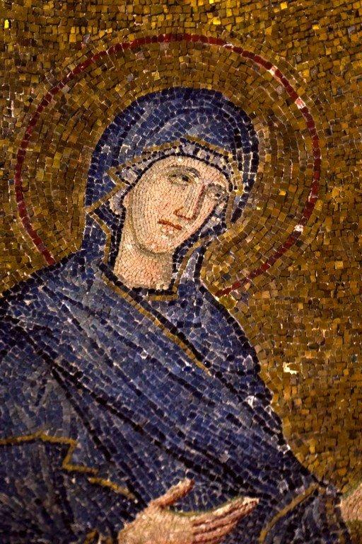 Пресвятая Богородица. Мозаика церкви Богородицы Паммакаристос (Всеблаженной) в Константинополе. XIV век.