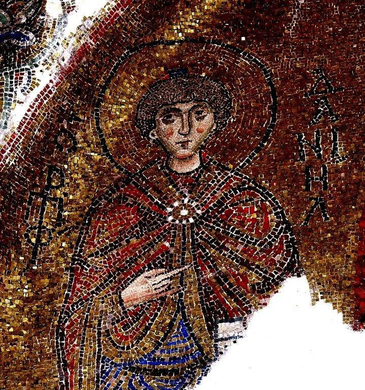 Святой Пророк Даниил. Мозаика монастыря Неа Мони на острове Хиос, Греция. 1049 - 1056 годы.