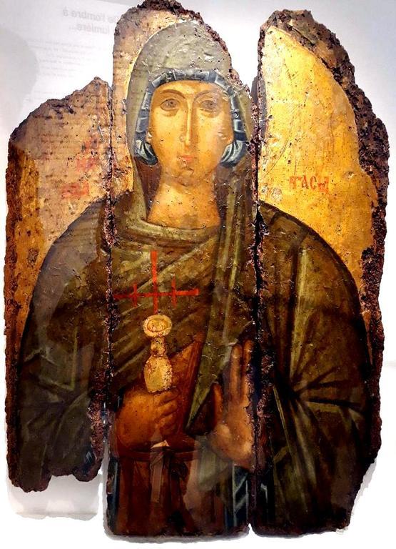 Святая Великомученица Анастасия Узорешительница. Византийская икона начала XV века.