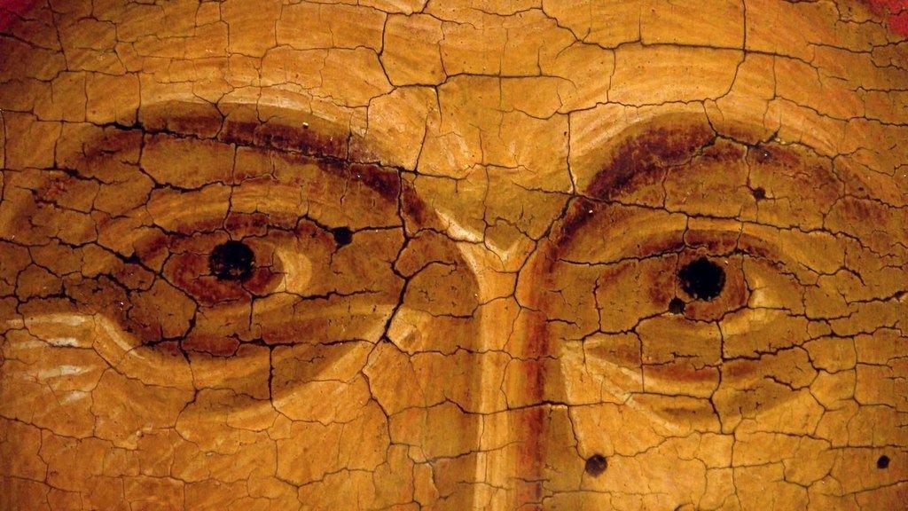 Святая Великомученица Анастасия Узорешительница. Византийская икона начала XV века. ГЭ. Фрагмент.