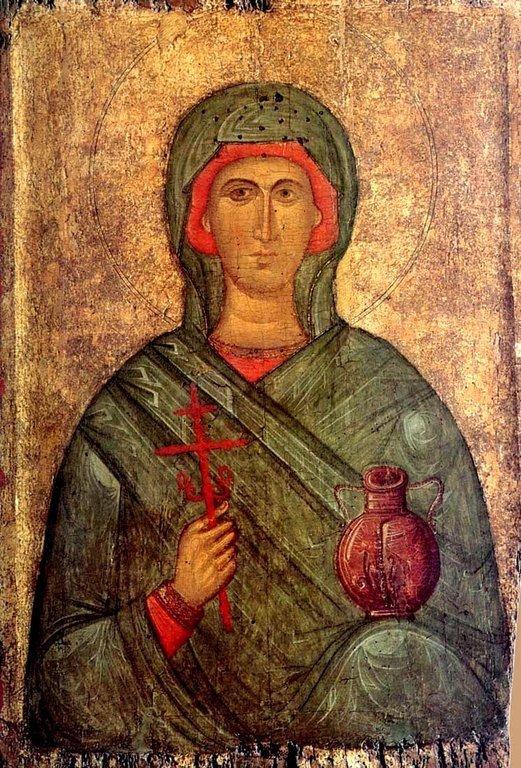 Святая Великомученица Анастасия Узорешительница. Византийская икона начала XV века. ГЭ.