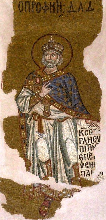 Святой Пророк Царь Давид. Мозаика монастыря Дафни близ Афин, Греция. XI век.