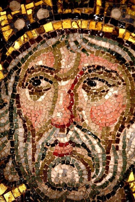 Святой Пророк Царь Давид. Мозаика монастыря Дафни близ Афин, Греция. XI век. Фрагмент.