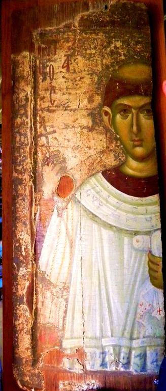 Святой Апостол от Семидесяти, Первомученик и Архидиакон Стефан. Византийская икона. Великая Лавра Святого Афанасия на Афоне.