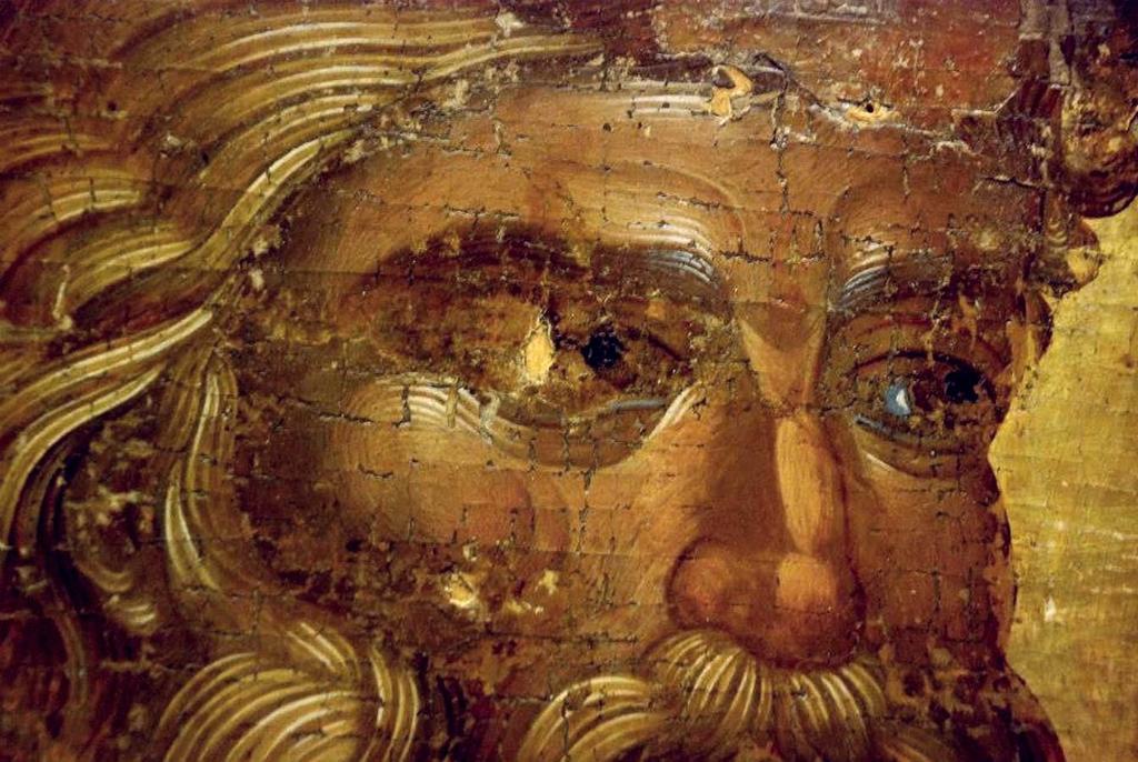 Святой Апостол Пётр. Икона. Византия, 1320 год. Фрагмент.