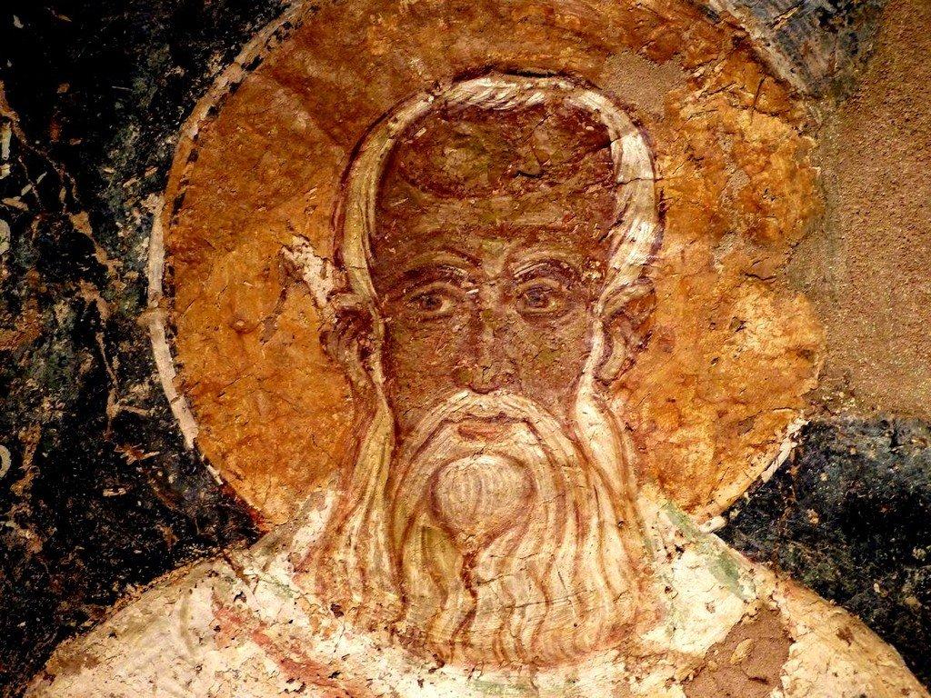 Святитель Григорий Богослов. Византийская фреска. Византийский музей в Афинах.