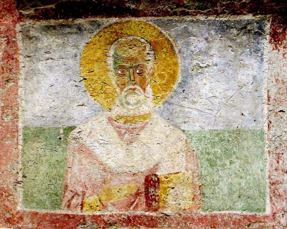 Святитель. Фреска церкви Святого Николая Чудотворца в Мирах Ликийских.