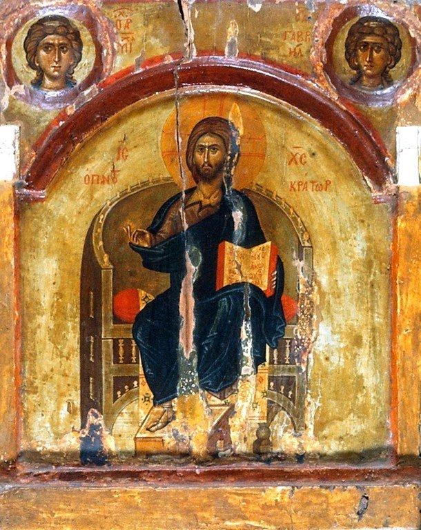Христос на троне. Византийская икона XIV века. Монастырь Святой Екатерины на Синае.