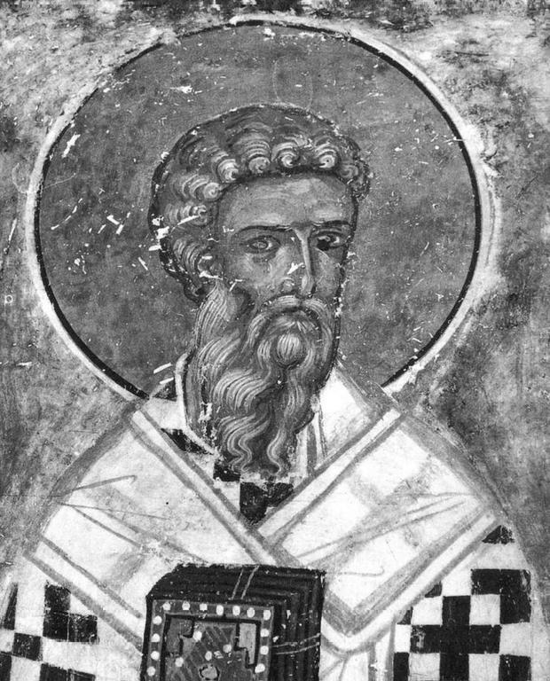 Священномученик Власий, Епископ Севастийский. Фреска Великой Лавры Святого Афанасия на Афоне.
