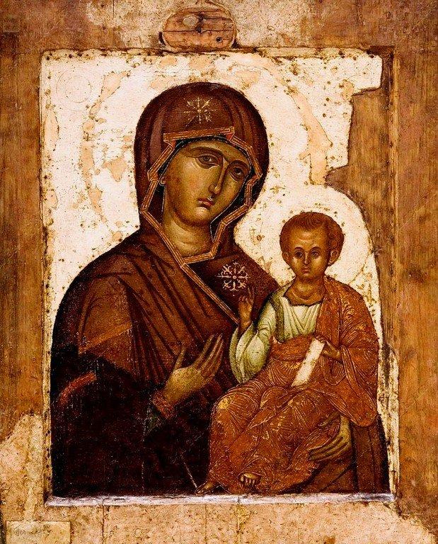 Богоматерь Одигитрия. Икона. Византия, XV век.