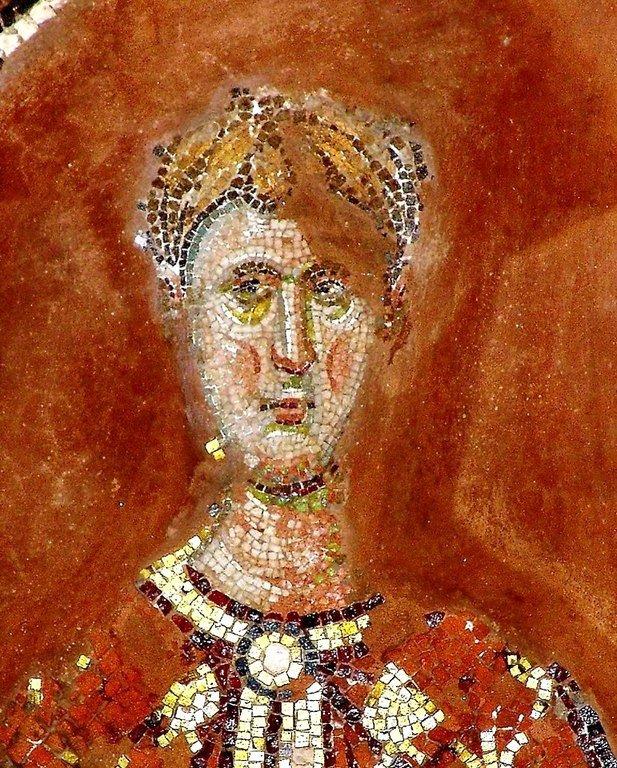 Лик Святого. Мозаика церкви Святых Апостолов в Салониках, Греция. XIV век.