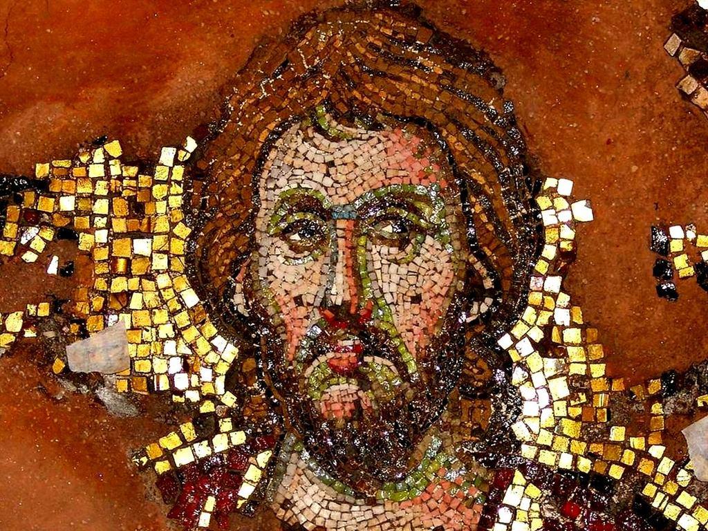 Святой Мученик. Мозаика церкви Святых Апостолов в Салониках, Греция. XIV век.