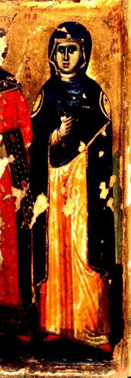 Святая Мученица Фотина Самаряныня. Фрагмент иконы в монастыре Святой Екатерины на Синае.