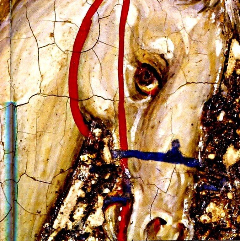 Святой Великомученик Георгий Победоносец избавляет отрока из плена. Икона. Византия, середина XIII века. Британский музей. Фрагмент.