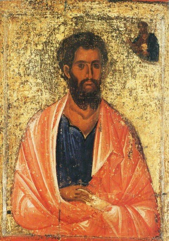 Святой Апостол Иаков Зеведеев. Икона. Византия, 1260 - 1270-е годы. Монастырь Святого Иоанна Богослова на острове Патмос, Греция.
