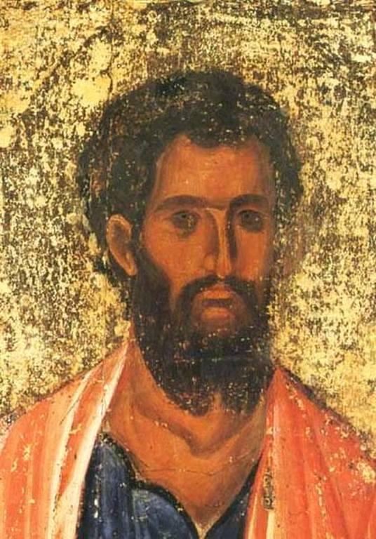 Святой Апостол Иаков Зеведеев. Икона. Византия, 1260 - 1270-е годы. Монастырь Святого Иоанна Богослова на острове Патмос, Греция. Лик.