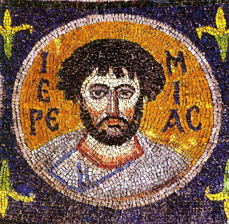 Святой Пророк Иеремия. Византийская мозаика VI века. Монастырь Святой Екатерины на Синае.