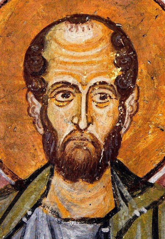 Святой Апостол Симон Зилот (Кананит). Фреска монастыря Осиос Лукас, Греция. 1030 - 1040-е годы.