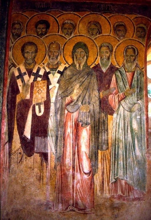 Неделя Всех Святых. Фреска монастыря Бачково, Болгария. XI век.