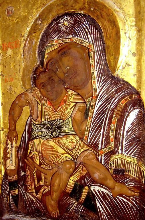 """Чудотворная икона Божией Матери """"Достойно есть""""."""