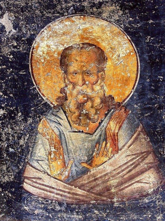 Ветхозаветный Святой. Фреска церкви Святых Апостолов (Двенадцати Апостолов) в Салониках, Греция. XIV век.