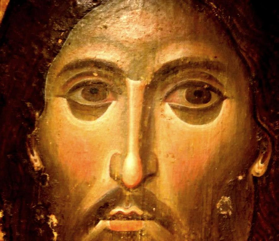 Лик Спасителя. Фрагмент византийской иконы XIII века. Монастырь Святой Екатерины на Синае.