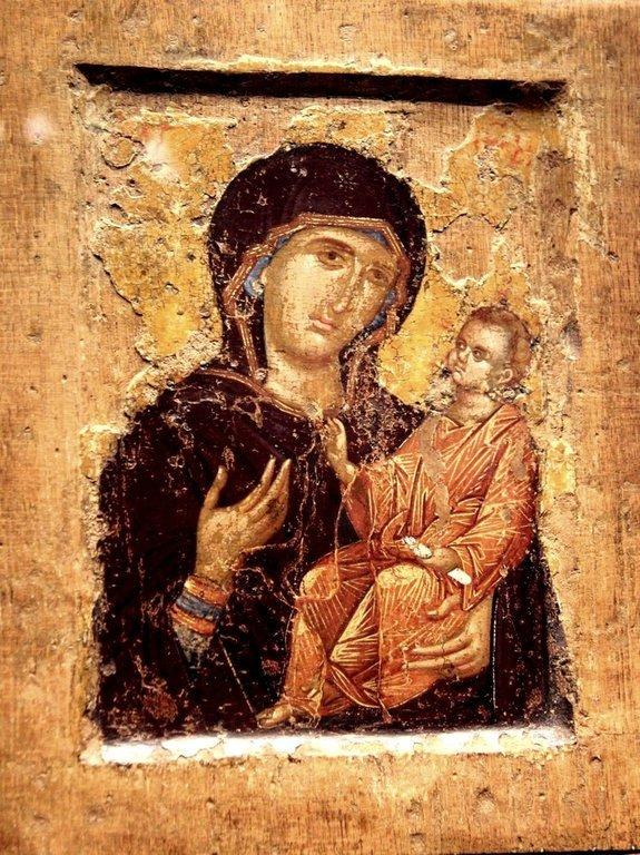 Богоматерь Одигитрия. Византийская икона.