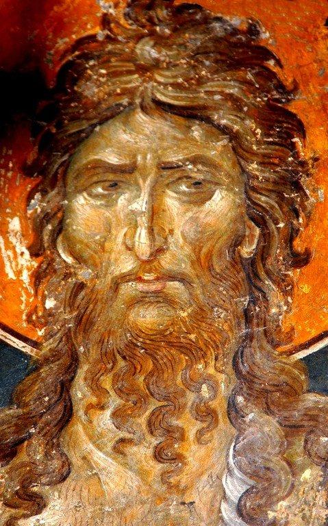 Святой Иоанн Предтеча. Фреска церкви Святого Николая Орфаноса в Салониках. 1310 - 1315 годы.