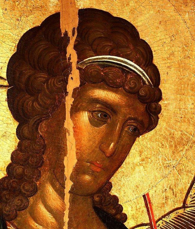 Архангел Михаил. Икона. Византия, 1360-е годы. Сербский монастырь Хиландар на Афоне. Лик.