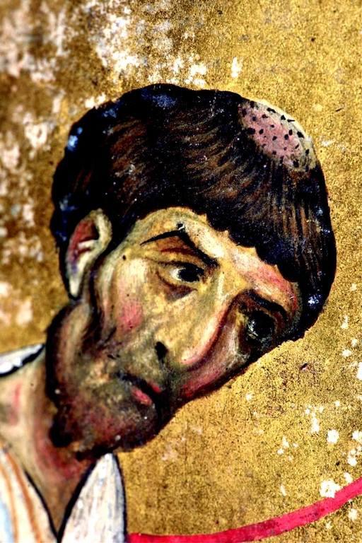 Святой Апостол и Евангелист Лука. Византийская миниатюра. Лик.