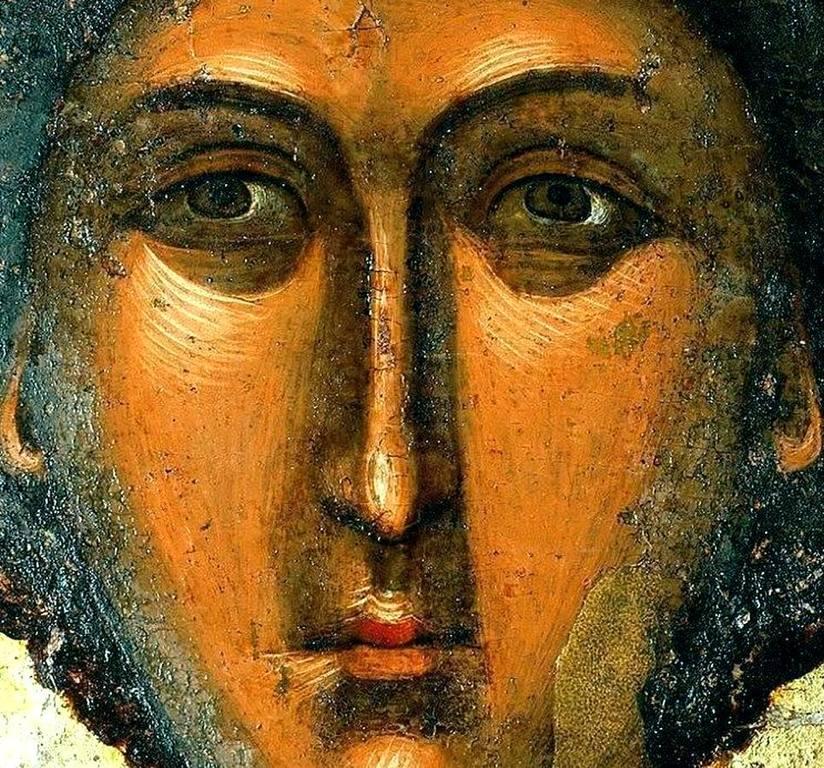 Чудотворная Аравийская икона Святого Великомученика Георгия Победоносца. Болгарский монастырь Зограф на Афоне. Лик.