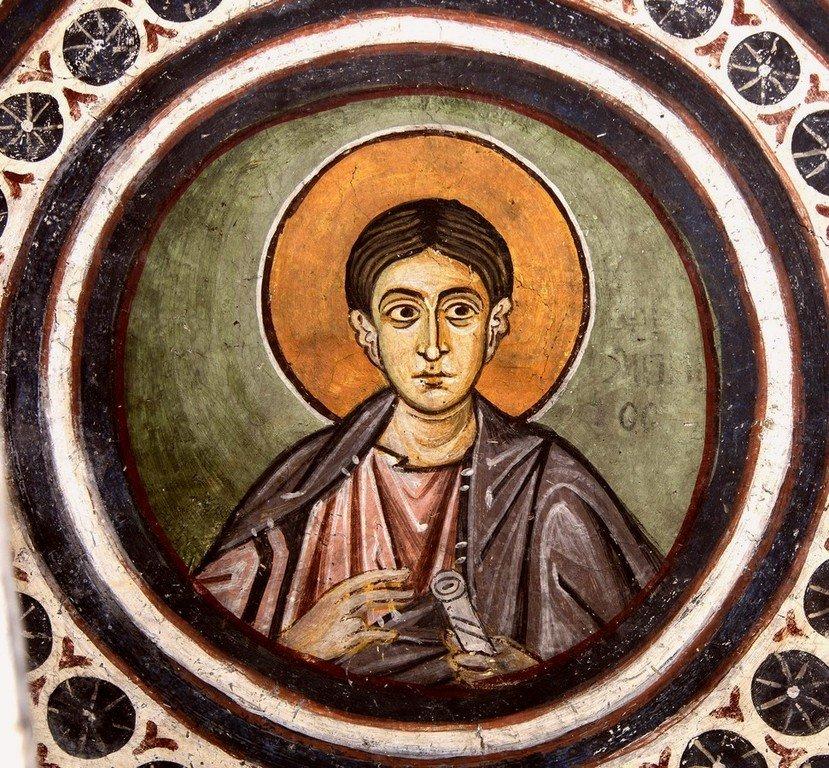Святой Апостол Филипп. Фреска монастыря Осиос Лукас, Греция. 1030 - 1040-е годы.