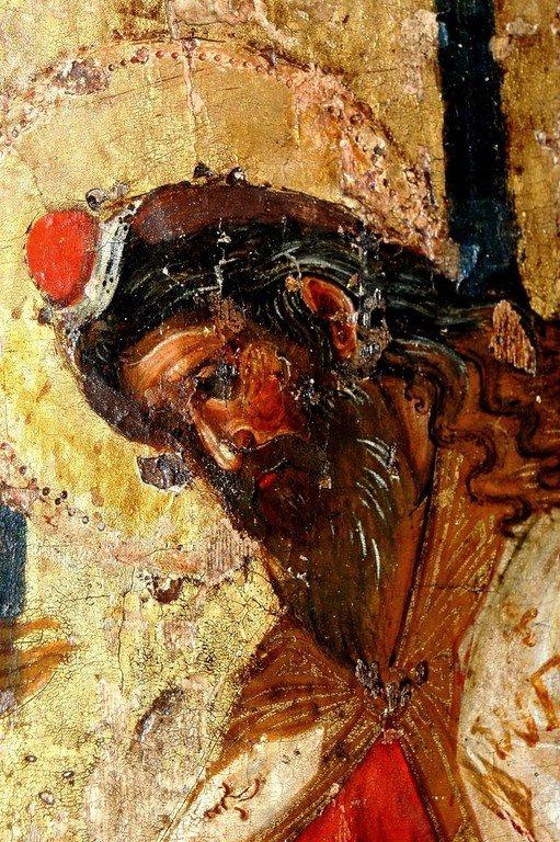 Введение во храм Пресвятой Богородицы. Икона. Византия, 1320 год. Сербский монастырь Хиландар на Афоне. Фрагмент. Святой Пророк Захария.