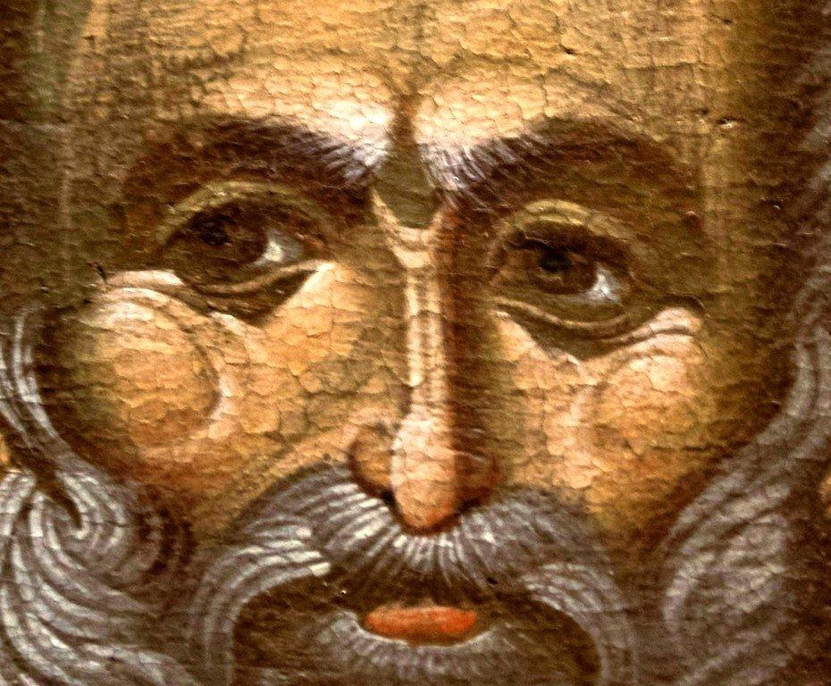 Святитель Николай Чудотворец. Византийская икона. Византийский музей в Верии, Греция. Лик.