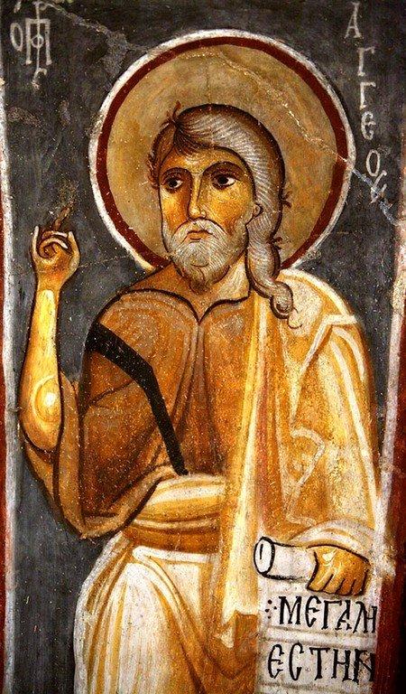 Святой Пророк Аггей. Фреска церкви Каранлык Килисе в Каппадокии. Конец XII - начало XIII веков.