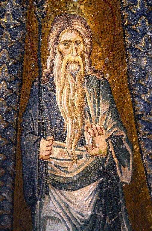 Святой Праотец Адам. Мозаика монастыря Хора в Константинополе. 1315 - 1321 годы.